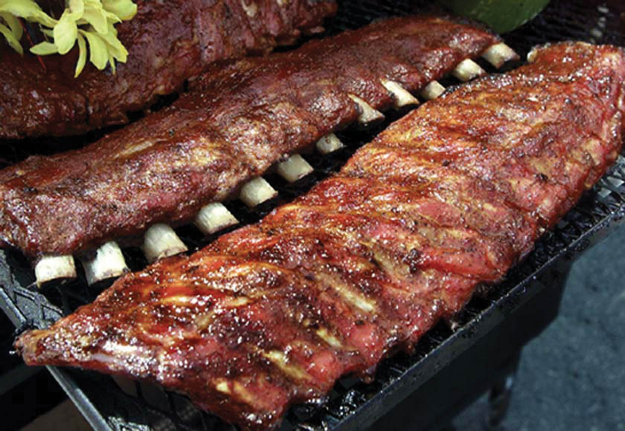 Slow Roasted BBQ Ribs, Spicy Salami Sliders, Killer Taco Dip, Veggie ...